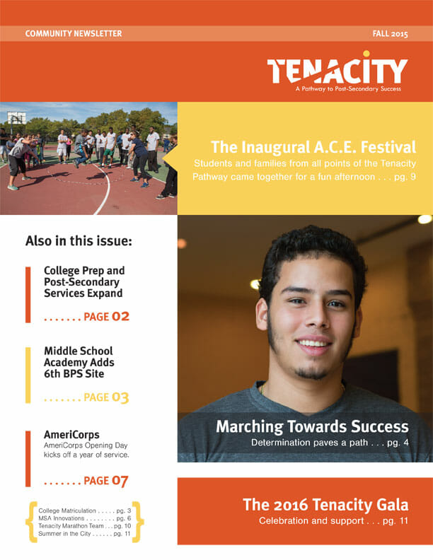 Tenacity Fall 2015 Community Newsletter