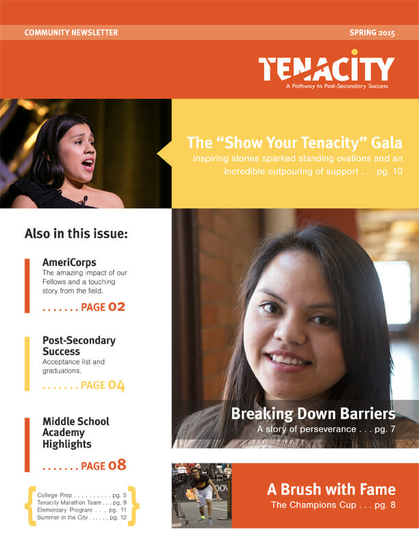 Tenacity Community Newsletter Spring 2015