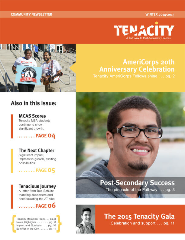 Tenacity Community Newsletter Winter 2015