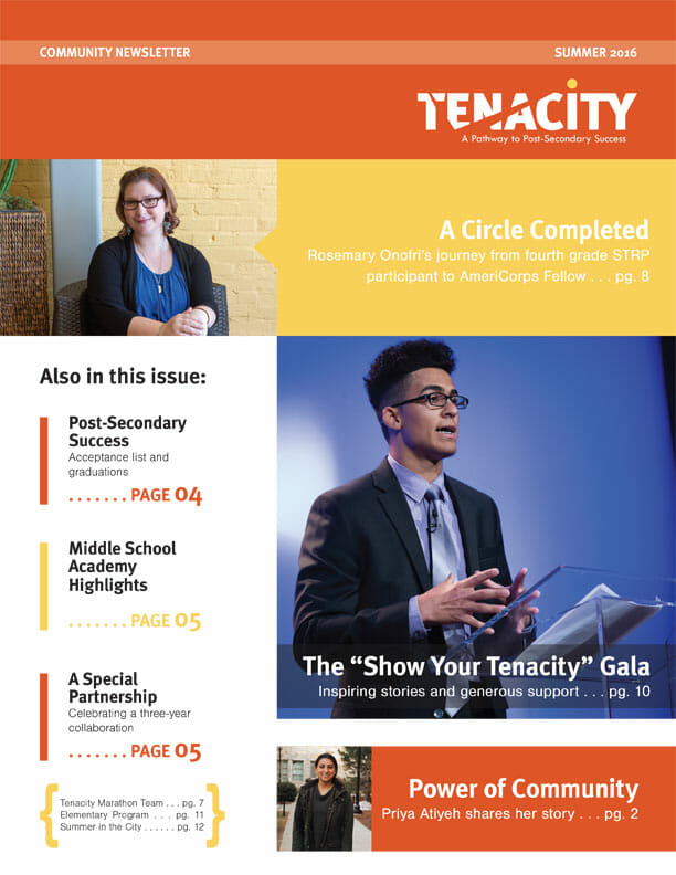 Tenacity Summer 2016 Newsletter