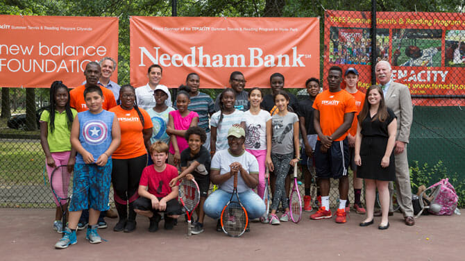 Needham Bank Provides Valuable Support as a Proud Sponsor of the  Tenacity Summer Tennis & Reading Program in Hyde Park