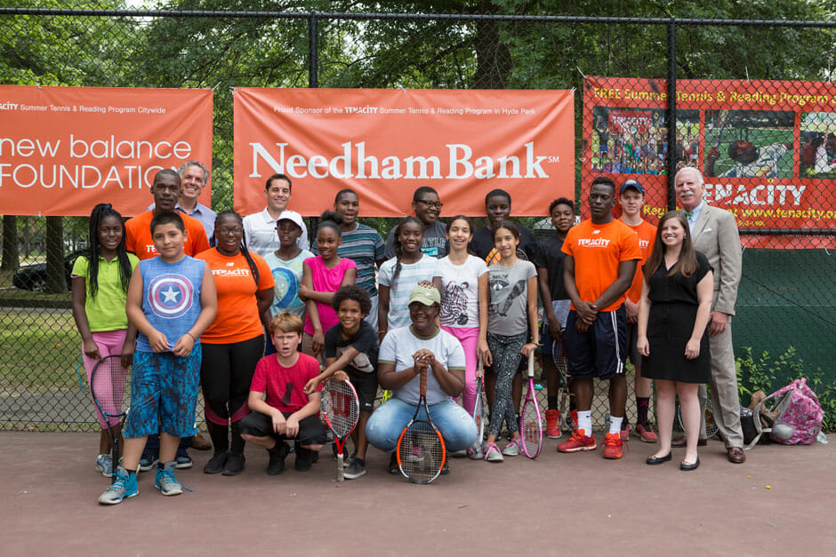 Needham Bank supports the Tenacity Summer Tennis and Reading Program in Hyde Park