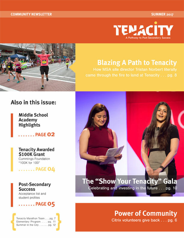 Current Issue Tenacity Community Newsletter